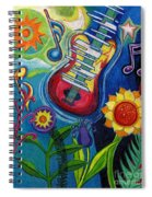Music On Flowers Spiral Notebook