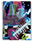 Music On The River Stl Style Spiral Notebook