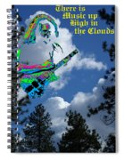 Music Up In The Clouds Spiral Notebook