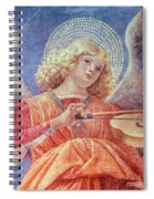 Musical Angel With Violin Spiral Notebook