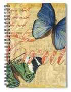 Musical Butterflies 3 Spiral Notebook