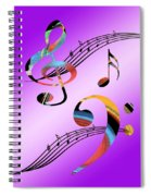 Musical Illusion Spiral Notebook
