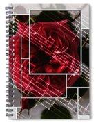 Musical Rose Montage Spiral Notebook