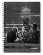 Musicians By The Pond Spiral Notebook