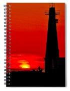 Muskegon Light Sunset Spiral Notebook