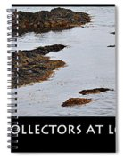 Mussel Collectors At Low Tide - Shellfish - Low Tide Spiral Notebook