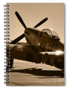 Mustang In The Sun Spiral Notebook