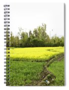 Mustard Fields In Kashmir On The Way To The Town Of Sonamarg Spiral Notebook