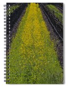 Mustard Grass In Vineyards Spiral Notebook