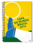 My 2014 World Cup Soccer Brazil - Rio Minimal Poster Spiral Notebook