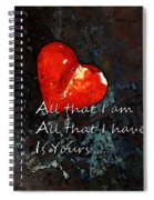 My All - Love Romantic Art Valentine's Day Spiral Notebook