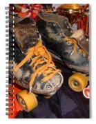 My Battle Scarred Roller Derby Skates  Spiral Notebook