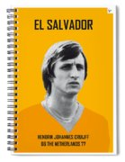 My Cruijff Soccer Legend Poster Spiral Notebook