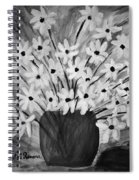 My Daisies Black And White Version Spiral Notebook
