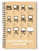 My Evolution Apple Mac Minimal Poster Spiral Notebook
