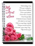 My First Love Poetry Art  Spiral Notebook