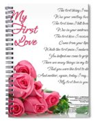 My First Love Poetry Art Print Spiral Notebook