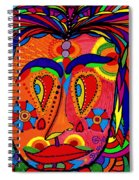 My Funny Little Clown Face - Color Love Spiral Notebook