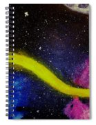My Galaxy In Blue Cross Process Spiral Notebook