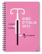 My Giro D' Italia Minimal Poster Spiral Notebook
