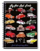 Hot Rod Ford Poster Spiral Notebook