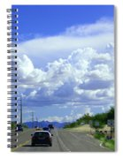 My House Over The Hill Under The Clouds Spiral Notebook