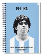 My Maradona Soccer Legend Poster Spiral Notebook