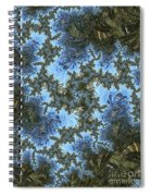 My Maui Fractal Art Abstract Palms And Blue Sky And Waters Spiral Notebook