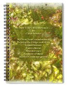 My New Year's Resolution Is . . . Poem And Image Spiral Notebook