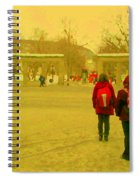 My Old Alma Mater Mcgill University Golden Olden Days Montreal Memories City Scenes Carole Spandau Spiral Notebook