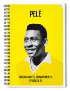 My Pele Soccer Legend Poster Spiral Notebook