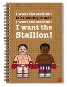 My Rocky Lego Dialogue Poster Spiral Notebook