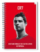 My Ronaldo Soccer Legend Poster Spiral Notebook