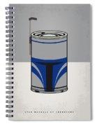 My Star Warhols Jango Fett Minimal Can Poster Spiral Notebook