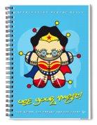 My Supercharged Voodoo Dolls Wonder Woman Spiral Notebook