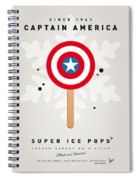 My Superhero Ice Pop - Captain America Spiral Notebook