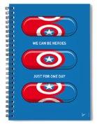 My Superhero Pills - Captain America Spiral Notebook