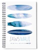My Surfspots Poster-1-jaws-maui Spiral Notebook