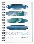 My Surfspots Poster-5-devils-point-tasmania Spiral Notebook