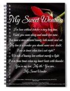 My Sweet Wonder Poetry Art Spiral Notebook