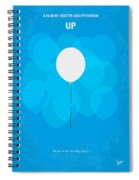 My Up Minimal Movie Poster Spiral Notebook