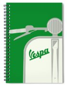 My Vespa - From Italy With Love - Green Spiral Notebook
