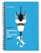 My World Championships Minimal Poster Spiral Notebook