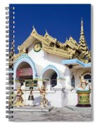 Myanmar Buddhist Temple Spiral Notebook