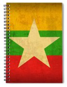 Myanmar Burma Flag Vintage Distressed Finish Spiral Notebook