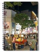 Myeongdong Shopping Street In Seoul South Korea Spiral Notebook