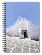 Mykonian Church Spiral Notebook