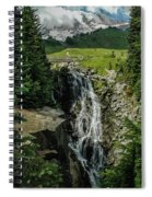Myrtle Falls In Front Of Mt. Rainier Spiral Notebook