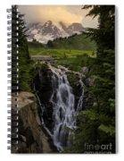 Myrtle Falls Morning Light Spiral Notebook