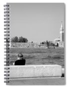 Myself And Venice Spiral Notebook